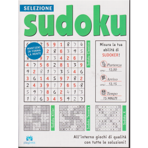 Selezione Sudoku - n. 25 - bimestrale - 29/12/2018