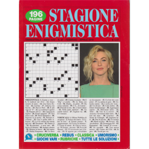 Stagione enigmistica - n. 97 - trimestrale - febbraio - aprile 2019 - 196 pagine