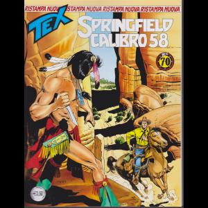 Tex Nuova Ristampa - Springfield Calibro 58 - mensile - gennaio 2019 - n. 441