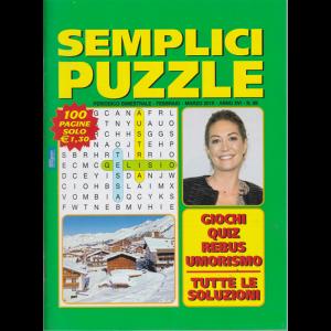 Semplici Puzzle - n. 89 - bimestrale - febbraio - marzo 2019 - 100 pagine - Tessa Gelisio