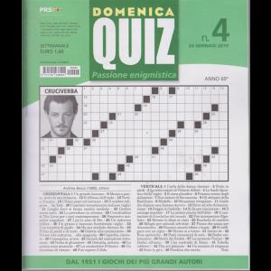 Domenica Quiz  -n. 4 - 24 gennaio 2019 - settimanale