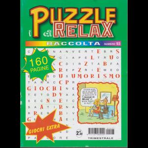 Raccolta puzzle di relax - n. 93 - trimestrale - 160 pagine febbraio - aprile 2019