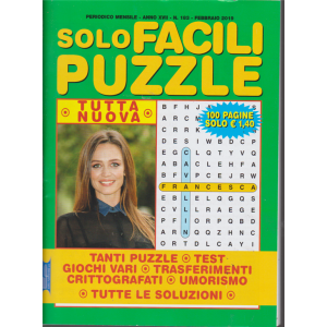 Solo Facili Puzzle - n. 183 - mensile - febbraio 2019 - 100 pagine