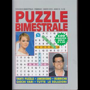 Puzzle Bimestrale - n. 60 - febbraio - marzo 2019 - 100 pagine -