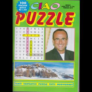 Ciao puzzle - n. 345 - febbraio 2019 - mensile - 100 pagine - Carlo Conti