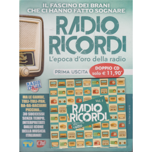 Radio Ricordi - L'epoca d'oro della radio - prima uscita - doppio cd - 22/1/2019 -