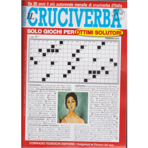 Il cruciverba -n. 301 - mensile - 25/1/2019