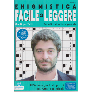 Enigmistica facile da leggere - n. 19 - bimestrale - 29/1/2019 - Lino Guanciale