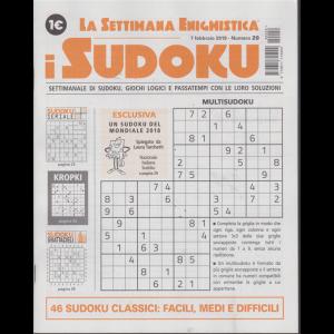 La settimana enigmistica - i sudoku - n. 29 - 7 febbraio 2019 - settimanale