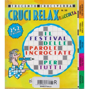 Raccolta cruci relax - n. 35 - bimestrale - 252 pagine - 300 cruciverba