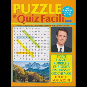 Puzzle e  Quiz Facili - n. 272 - bimestrale - novembre - dicembre 2019 - 68 pagine