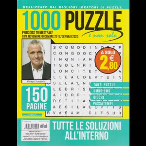 1000 Puzzle e Non Solo - n. 13 - trimestrale - novembre - dicembre 2019/gennaio 2020 - 150 pagine