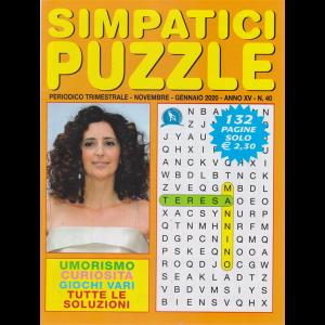 Simpatici puzzle - n. 40 - trimestrale - novembre - gennaio 2020 - 132 pagine