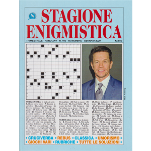 Stagione enigmistica - n. 100 - trimestrale - novembre - gennaio 2020