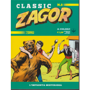 Zagor Classic - L'impronta Misteriosa - n. 8 - ottobre 2019 - mensile
