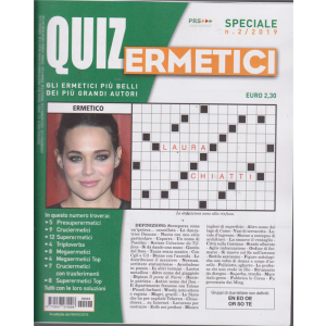 Quiz Ermetici - n. 2 - 6/3/2019 - trimestrale -