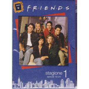 I Dvd Fiction Di Sorrisi -   Collana Friends - Dvd n. 4 - stagione 1 episodi 19-24 - 18/10/2019