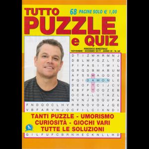 Tutto puzzle e quiz - n. 64 - bimestrale - novembre - dicembre 2019 - 68 pagine