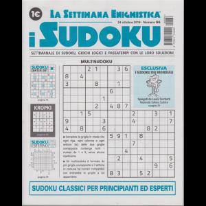 La settimana enigmistica - i sudoku - n. 66 - 24 ottobre 2019 - settimanale