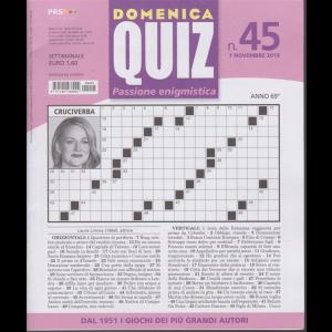 Domenica Quiz - n. 45 - 7 novembre 2019 - settimanale -