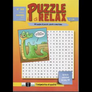I Puzzle di Relax - n. 305 - mensile - novembre 2019 - 68 pagine di puzzle, giochi e umorismo