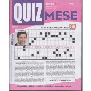 Domenica Quiz Mese - n.11 - novembre 2019 - mensile