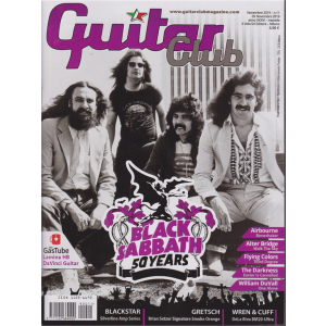 Guitar Club - Black Sabbath 50 Years - n. 11 - novembre 2019 - mensile