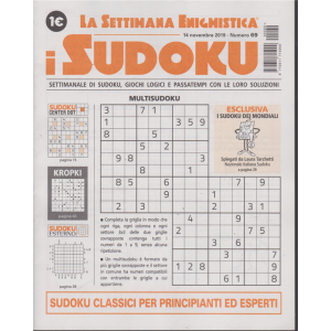 La settimana enigmistica - i sudoku - n. 69 - 14 novembre 2019 -