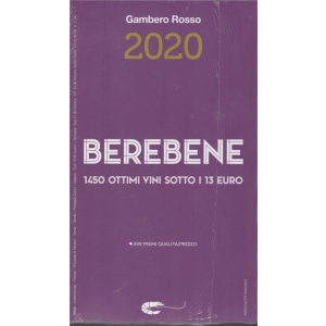 Berebene - Gambero Rosso 2020 - 1450 ottimi vini sotto i 13 euro - annuale - 14/11/2019 -