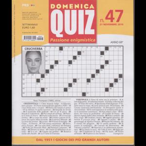 Domenica Quiz - n. 47 - 21 novembre 2019 - settimanale