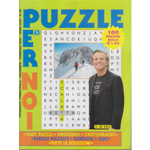 Puzzle per noi - n. 89 - trimestrale - dicembre - febbraio 2020 - 100 pagine