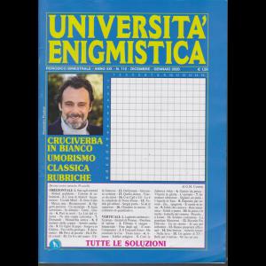 Università enigmistica - bimestrale - n. 112 - dicembre - gennaio 2020