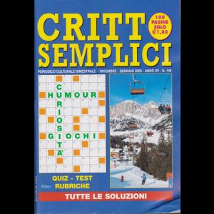 Critto Semplici - n. 146 - bimestrale - dicembre - gennaio 2020 - 100 pagine