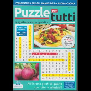 Puzzle X Tutti - n. 105 - bimestrale - 2/11/2019 - Enogastronomia enigmistica