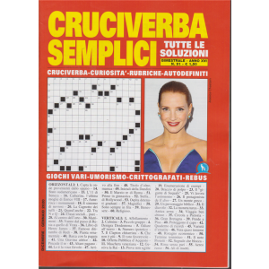 Cruciverba Semplici - n. 91 - bimestrale - dicembre - gennaio 2020