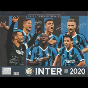 """Calendario ufficiale INTER 2020 """"orizzontale"""" - cm. 44 x 33 con spirale"""