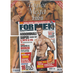 For Men Magazine - mensile n. 201 Novembre 2019 + calendario 2020