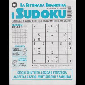 La settimana enigmistica - i sudoku - n. 70 - 21 novembre 2019 - settimanale