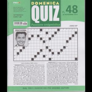 Domenica Quiz - n. 48 - 28 novembre 2019 - settimanale