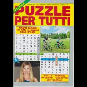 Speciale Puzzle per tutti - n. 91 - bimestrale- aprile - maggio 2019 -