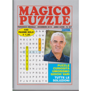 Magico Puzzle - 307 - mensile - dicembre 2019 - 100 pagine