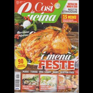 Cosi' In Cucina - n. 12 - mensile - dicembre 2019 -