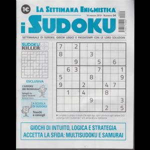 La settimana enigmistica - i sudoku - n. 34 - 14 marzo 2019 -