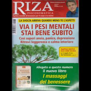 Riza Psicosomatica - n. 466 - mensile - dicembre 2019 + il libro I massaggi del benessere - rivista + libro
