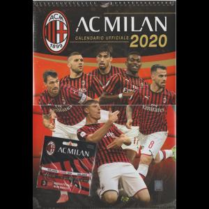 Calendario ufficiale AC MILAN 2020 - cm. 32 x 30 c/spirale + Braccialetti