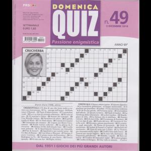 Domenica Quiz - n. 49 - 5 dicembre 2019 - settimanale