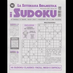 La settimana enigmistica - I sudoku - n. 71 - 28 novembre 2019 - settimanale