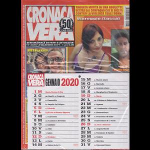 Cronaca vera - n. 2466 - 3 dicembre 2019 - settimanale di fatti e attualità + Calendario Cronaca vera 2020