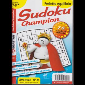 Sudoku champion - n. 25 - bimestrale - 21/12/2019 - 7-8 livello di difficoltà - Perfetto equilibrio