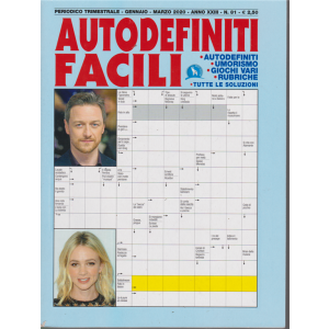 Autodefiniti Facili - n. 81 - trimestrale - gennaio - marzo 2020 -